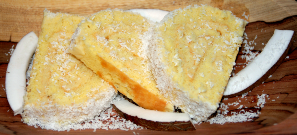 Roulé à la crème de noix de coco