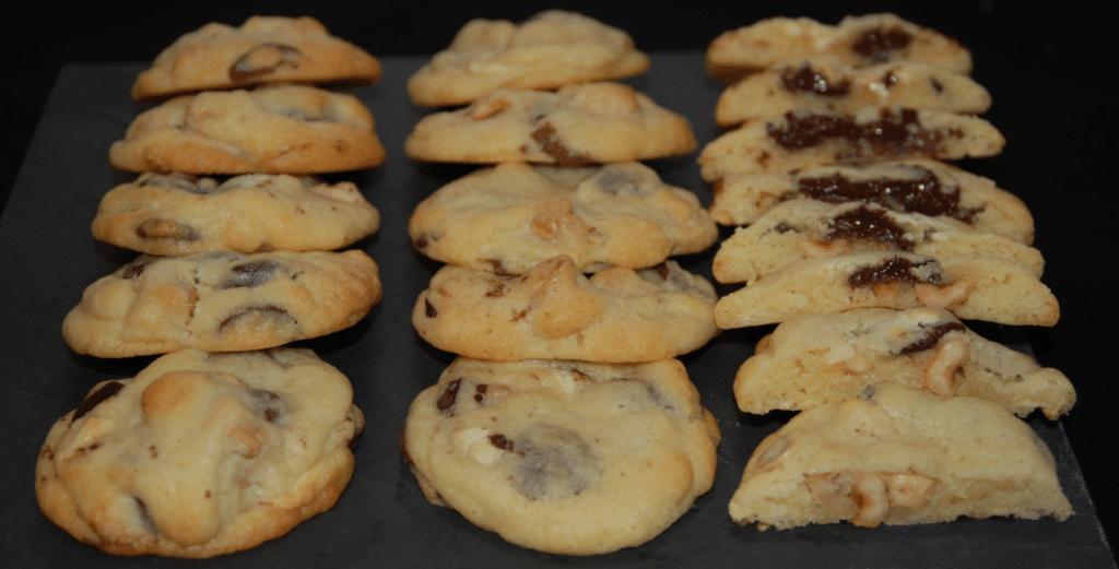 Cookies ultra-moelleux aux trois chocolats