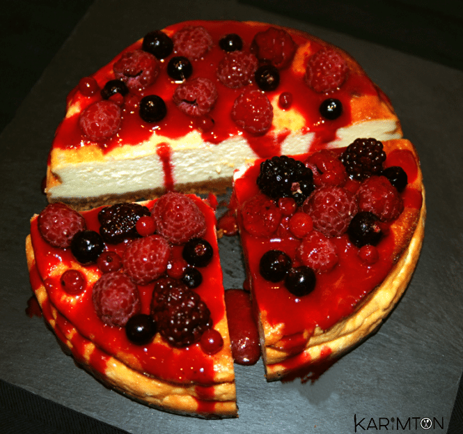 Cheesecake gourmand fruits rouges Karimton