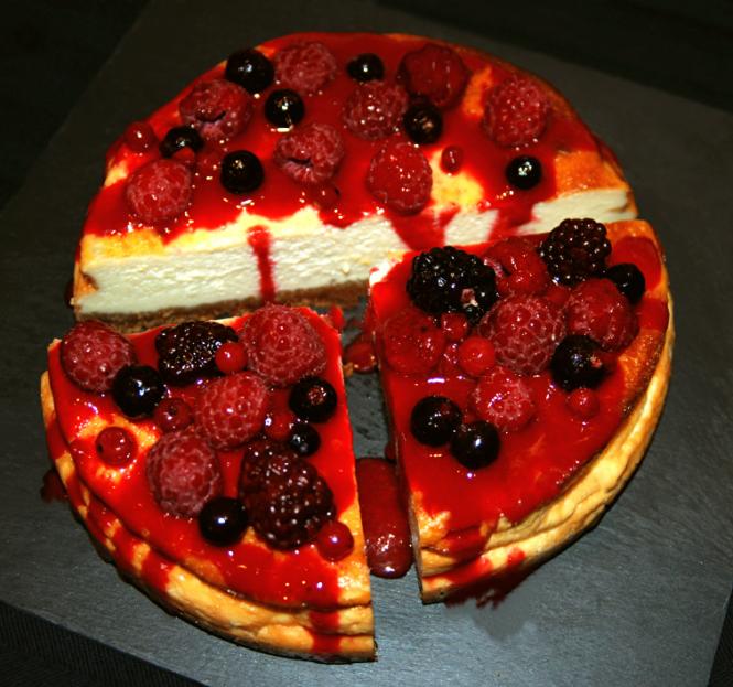 Cheesecake gourmand fruits rouges Karimton