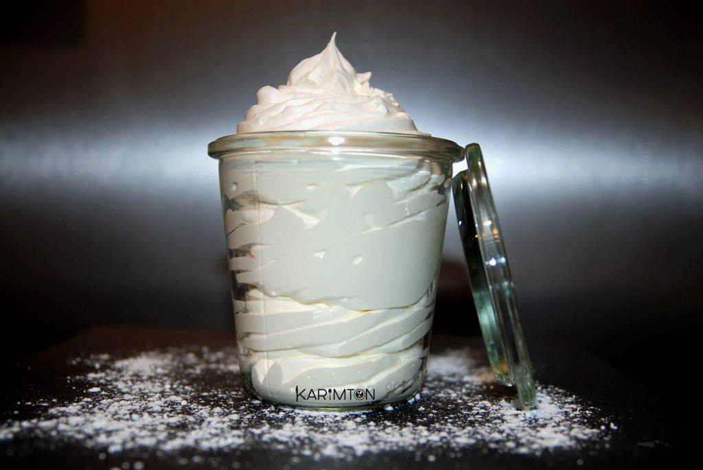 Crème chantilly ivoire vanille Karimton