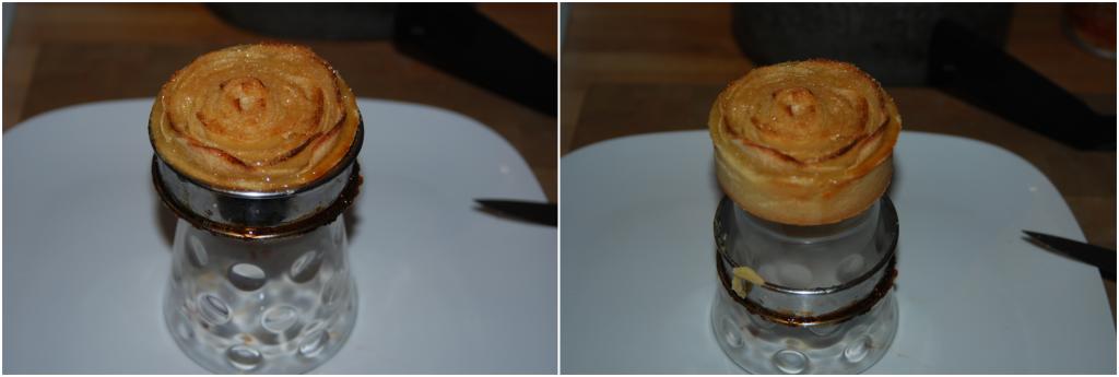 Tartelettes aux pommes en bouquet de roses