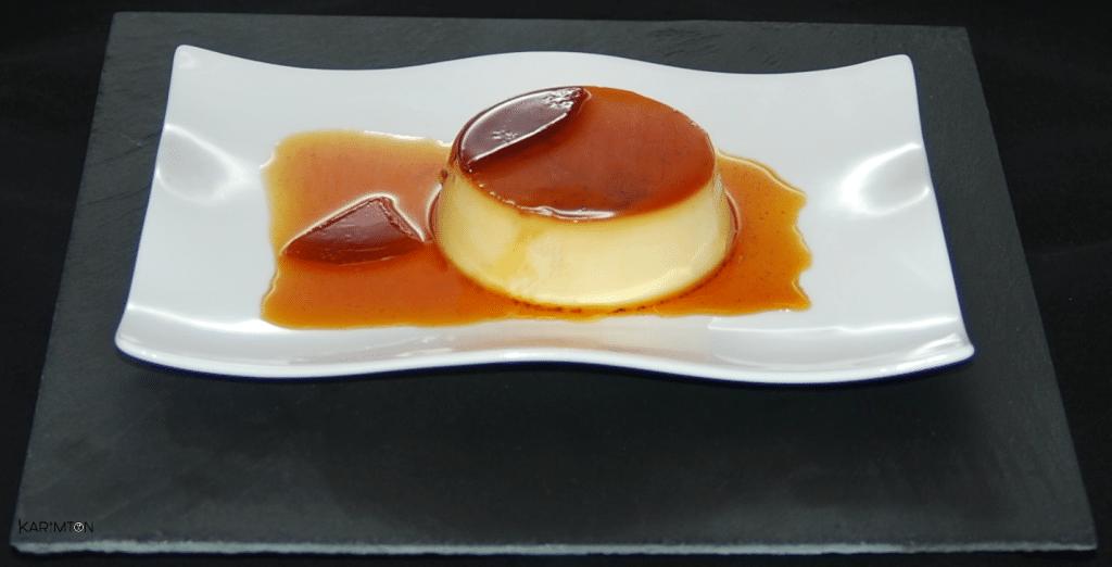 Crème caramel renverséee Karimton
